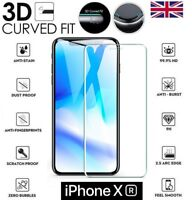 "For iPhone XR (6.1"") 3D Full Cover Screen Protector Tempered Glass Crystal Clear"