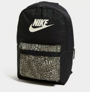 Nike Heritage Backpack Animal Print Rucksack Gym Sports School Laptop Bag New