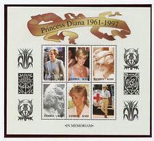 (2) Zambia MNH Sheetlets #706 & #707 of 6 Princess Diana Stamps