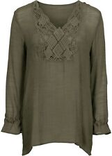 NEU Corley Shirt Tunika Gr 068 36 bis 40 Kurzarm Oliv Ton