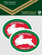 620472 SOUTH SYDNEY RABBITOHS NRL SET OF 2 MINI HERITAGE DECALS CAR STICKERS