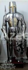 MEDIEVAL KNIGHT CRUSADER FULL ARMOR SUIT ARMOR COSTUME W/ SWORD STAND