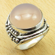925 Silver Overlay ROSE QUARTZ Size UK R Ring Gift WHOLESALE PRICE