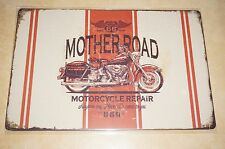 Tin Metal Sign man cave shed motorbike workshop Motorcycle Mother Road Repairer