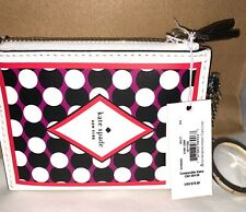 NEW KATE SPADE LUCKY DRAW DOUBLE ZIP COIN PURSE KEY FOB BAG CHARM WOR00003