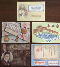 "Vatican City 1984 Set of 5 Registered FD Postcards ""Vatican Secrect Achives"""