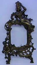Antique Brass Beatrice Frame Picture Or Mirror With Cherub Art Nouveau