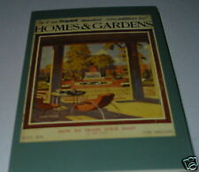 N29 - homes and gardens magazine cover 1934  Postcard