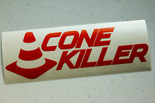 Cone Killer Sticker Decal JDM Vinyl Sticker Autocross Drift SCCA AWD Autox