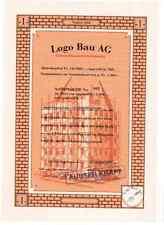 Schweiz: Logo Bau AG  1er  1997 Beggingen