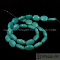 Natural Turquoise Gemstone Oval Spacer Loose Beads 6mm 8mm 10mm 12mm 14mm 16""