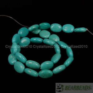 """Natural Turquoise Gemstone Oval Spacer Loose Beads 6mm 8mm 10mm 12mm 14mm 16"""""""