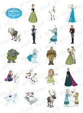 20 NAIL DECALS * DISNEY FROZEN* CHARACTER THEMED WATER SLIDE NAIL DECALS