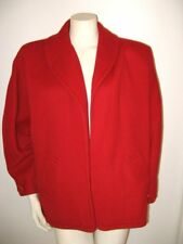 YVES ST. LAURENT RIVE GAUCHE RED COAT Vintage 1980's French size 40 USA size 10