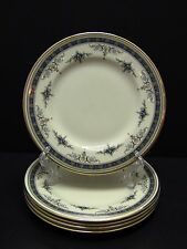 Minton GRASMERE BLUE Bread & Butter Plates / Set of 5