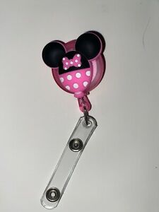 MINNIE MOUSE Retractable ID Lanyard CUTE! NEW!