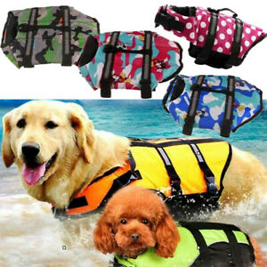 Dog Pet Life Jacket Reflective Coat Swimming Surfing Swim Saver Safety Aid Vest