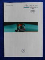 Mercedes-Benz LKW Actros 3243 - Technische Daten - Prospekt Brochure 02.1999