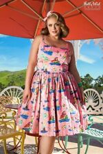 NEW Pinup Couture Jenny dress pink Neverland design 4X