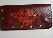 "Harley Davidson Brown Bi Fold Snap Leather 7 1/4"" Wallet"