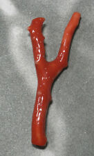 ~(coral) ~55mm*21mm.Momo branch(ec1291) Beauty Hand Carving Cameo