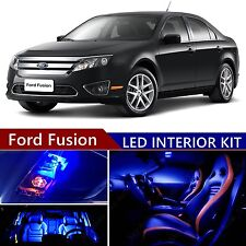 13pcs LED Blue Light Interior Package Kit for Ford Fusion 2006-2012