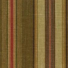 Mill Creek Raymond Waites MALIHA PECAN Brown Stripe Drapery Upholstery Fabric