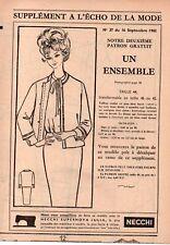 ▬► Patron Couture Écho de la Mode - 1962 N°37 - Taille 42 / 44 / 46 - Ensemble