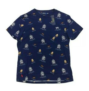 NEW Polo Ralph Lauren University Oxford Club Pocket T Shirt Blue Mens Size XL