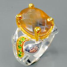 Sterling Silver Ring Size 8.5/R89657 Shop jewelry Design Natural Fluorite 925