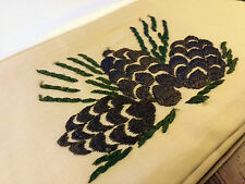 Sarah White Bedclothes (United Crafts) Queen pillowcase Pinecone Stickley Museum