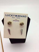 Lucky Brand Owl Stud Set Earrings $29 #529