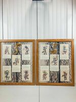 Lot of 2 Kachina Mixed Media Native Americans Framed Artwork Hopi Zuni Dancers