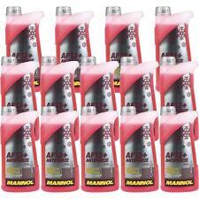 14x1 Liter MANNOL Kühlerfrostschutz Antifreeze AF 12+ Frostschutz -40°C rot rosa