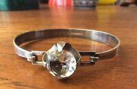 Kaunis Koru 925 Sterling  Silber  Bergkristall Armreifen Finland Modernist