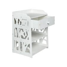 Wooden Nightstand Bed Sofa Side End Table Hallway Bedroom Storage Cabinet Shelf