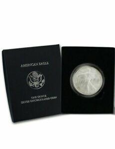 2007-W Burnished Silver Eagle Original Box NO Certificate of Authenticity