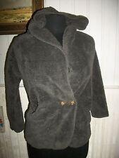 Veste gilet polaire gris tout doux MINI MOLLY BRACKEN 8/10 ans capuche poches