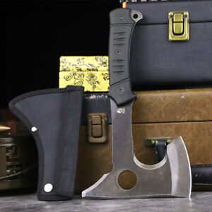 """10"""" Tactical Axe Outdoor Camping Tomahawk Throwing Hatchet Survival Hunting Tool"""