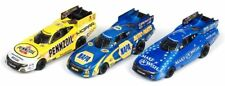 AUTO WORLD ~ NHRA Funny Cars ~ New 3 Car Set ~Capps, Hagen, Johnson FITS AFX, AW