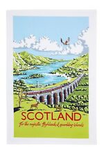 "Ulster Weavers, ""Kelly Hall Scotland"", Pure cotton tea towel. Printed in the UK."