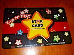 VIRTUALAND Gaming Token Star Card, plastic fine used