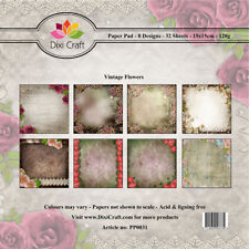 Dixi Background Paper Pad - Vintage Flowers New Free P & P