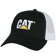 CAT CATERPILLAR *BLACK & WHITE* TRADEMARK LOGO Mesh Trucker HAT CAP * NEW* CA01