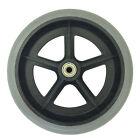 """x 2 (par) 200mm 8"""" Gris Goma Pequeño de la marca Silla de ruedas rueda recambio"""