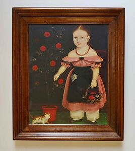 Little Girl In Lavender Framed Print