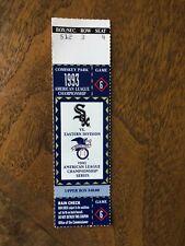 1993 ALCS Game 6 ticket stub Chicago White Sox v. Toronto Blue Jays