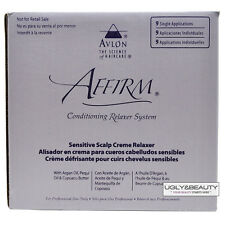 Affirm Sensitive Scalp Creme Relaxer 9 Single Applications Kit with Free Gift