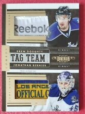 2010-11 PANINI DOMINION TAG TEAM Drew Doughty/Jonathan Bernier 4/8  KINGS