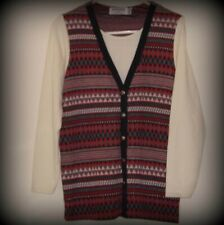 Alfred Dunner, Ladies Fair Isle Cardigan. Size S
